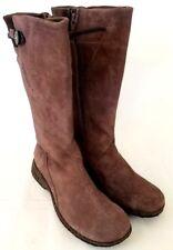 Teva Women's Suede Calf Boots Full Zipper Cork Montecito Light Purple US 7 Z928