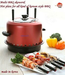 Multi BBQ maker BBQ skewer & korean BBQ plate for camping or backyard Gas stove