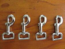 Snap hook / Dog clip 4x25mm sq end Heavy Grade steel/nickel pl Strong & Safe