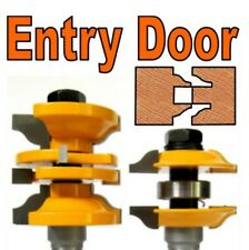 "2 pc 1/2"" SH Entry & Interior Door Ogee Matched R&S Router Bit Set S"