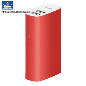Portable Power Bank Lithium-Ion 4000 mAh USB Red