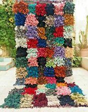 """Vintage Moroccan Boucherouite Rug Handmade Rug Berber Tribal rug 6'1"""" x 2'7"""""""
