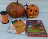 Halloween Pumpkins Jack O' Lantern Flag  JUNK DRAWER COLLECTION JOL