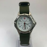 Wenger 0690 Womens Vintage Field Military Explorer Outdoors Date Nylon Watch