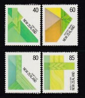 New Zealand 1987 : Fibre Arts Set of 4 Decimal Stamps, MNH