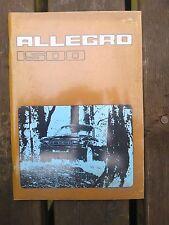 ALLEGRO 1500 Drivers Handbook (1977)