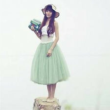 Women Layers Tulle Skirt Long Dress Princess Girls Ballet Tutu Dance Skirt Fanny