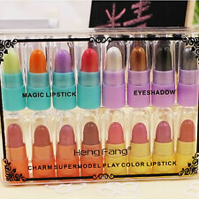 16 Color/Set Pro Makeup Moisturizing Lipsticks Eye Shadow Cosmetic Box Xmas Gift