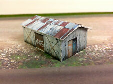 Z Scale Building - Weathered Shed  Cardstock kit set WS3