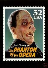 LON CHANEY, AS PHANTOM OF THE OPERA , OFFICIAL USPS JUMBO POSTCARD (7x5 inches)