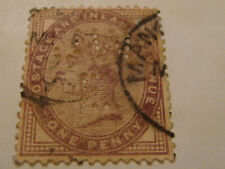 Grande Bretagne Postage and Inland Revenue-ONE PENNY PERFORE-1881 ReineVictoria