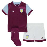 Aston Villa FC Infants Football Kit Under Armour Home Shirt Set 2017-18