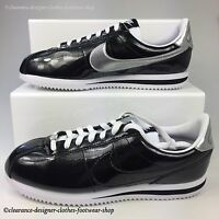 NIKE CORTEZ BASIC PREMIUM QS TRAINERS MENS BLACK CASUAL SHOE RRP £100