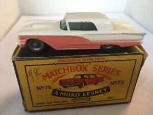 MATCHBOX LESNEY RW 1-75 No 75 THUNDERBIRD VN MINT SPW V GOOD GRUBBY B5 BOX
