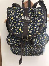 Superdry Super Dry Flower Print Backpack Rucksack Bag Navy