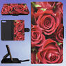RED ROSES PHOTOGRAPHY FLIP WALLET CASE FOR APPLE IPHONE PHONES