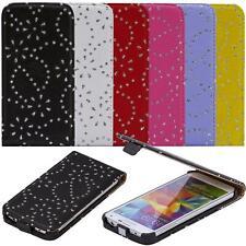 Handy Tasche iPhone SE Schutz Hülle Glitzer iPhone 5 5S 5C 4 4S Flip Cover Case