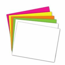 School Smart Poster Board - 11 x 14 - Pack of 50 - Assorted Neon Colors
