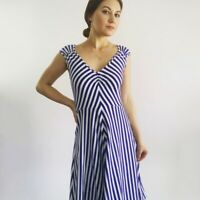 Kate Spade Blue Striped Women's Sundress Dress Size XS
