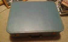 015 Vintage US Trunk CO Hardside Travel Suitcase Blue 21x16
