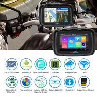 16GB Waterproof GPS Navigation Navigator SAT NAV Bluetooth Android 6.0+Free Map