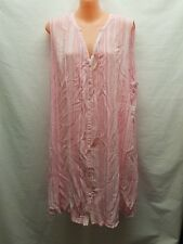 SUSSAN PINK WHITE SHIFT DRESS SIZE M/L SUMMER CASUAL WEAR