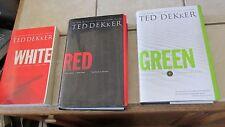 Ted Dekker - Circle HC  & PB Series  - Red White Green Book SET - Lot of 3