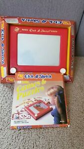 Vintage Etch A Sketch Toy by Ohio Art #505 w/ Original Box with 18 Activities