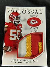 2016 NATIONAL TREASURES JUSTIN HOUSTON COLOSSAL PATCH 14/25 3 COLOR