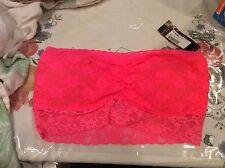 NWT Jenni by Jennifer Moore 3000 Womens Pink Ruched Bandeau Bralette bra