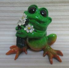 Kitty's Critters Frog with Flowers Just Because Figurine 2007