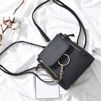Women Chain Satchel Bag Crossbody Backpack Purse Small Pu Leather Shoulder Bag