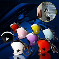 New 1x Cute Rings Keychain Hat Safety Helmets Motorcycl Fashion Accessories Gift