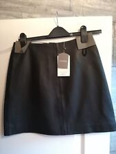 Oasis leather mini skirt size 6