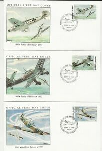 50th Ann WWII Comm/FDC - Mars Isles - B of B with Stamps -1990 (133)