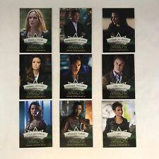 ARROW DC TV SERIES: SEASON 2 Complete CHARACTER BIOS Chase Card Set CB1-CB9