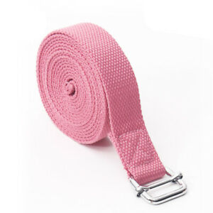 2.5M Yoga Stretching Band Adjustable Buckle Pilates Stretching Strap Fitness