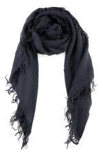 Chan Luu Soft Cashmere Silk Scarf Wrap Solid Dark Navy BLUE NIGHTS BRH-SC-140