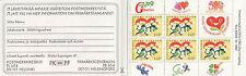 Finlandia Folleto: 1993 amistad completa SG SB35 Estampillada sin montar