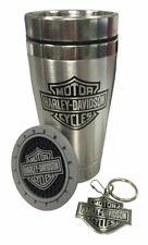 Harley-Davidson Bar & Shield Auto Travel Set, Travel Mug, Key Chain & Coaster