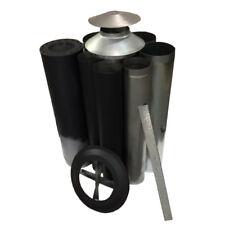 """Wood Fire Flue Kit - Painted Satin Black 150 (6"""") Triple Skin ABFK15P"""