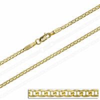 Goldkette Massiv Gold 585 14 Karat Steg Panzerkette Gelbgold Kette Herren 50 cm