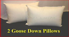 GOOSE DOWN TWO WAY SUPPORT PILLOWS x 2 - STANDARD SIZE - SOFT SUPPORT
