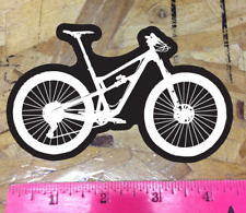 Black/White Mountain Bike Sticker Decal Graphic Bicycle Enduro MTB DH Downhill