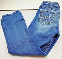 Womens Big Star Rikki Jean Capri Crop Blue Denim Pants Size 28 Low Rise