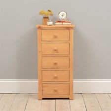Oakley Pine Slim Jim Chest - 5 Drawers solid construction
