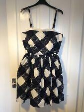 Boden Vintage 1950s Style Sun Dress 12R Summer Checkered Print