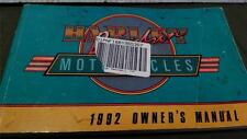 owners 99466-92 rider manual 1992 HARLEY fatboy STREETGLIDE ULTRA DYNA SPORTSTER