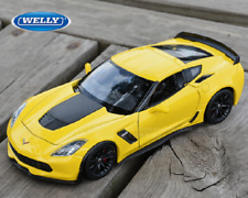Welly 1:24 2017 Chevrolet Corvette Z06 Diecast Model Sports Racing Car Yellow