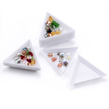 2 x Container Holder Dish Triangle Craft / Nail Art / Rhinestones Gems Beads